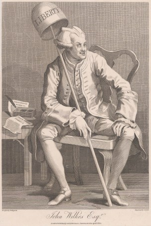 "Hogarth: John Wilkes Esq. 1800. An original antique copper engraving. 9"" x 13"". [MISCp2983]"