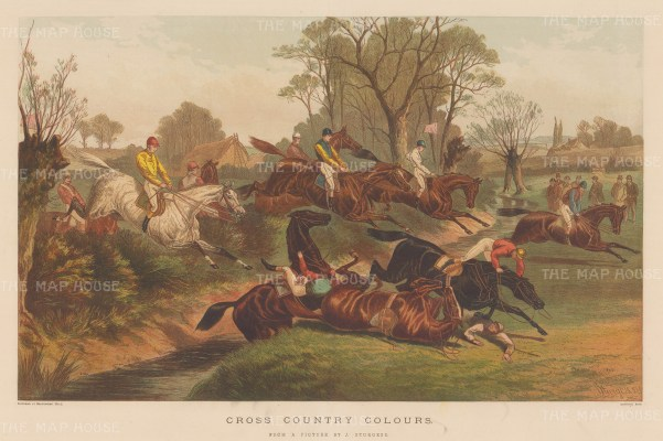 Cross Country Colours. View of a race after the Equestrian artist John Sturgess.