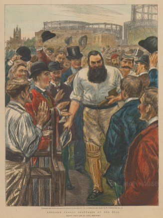 WG. Grace during the England v. Australia match at the Oval.
