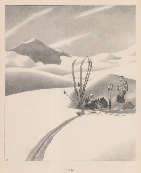 'The Stop', Cross-country skiers having a break.