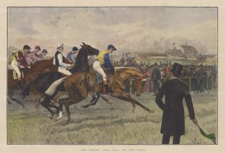 Fall of the flag. View of the start after sporting artist William Wollon.