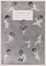 Caricatures of the Yorkshire eleven by MAC, on the day of a match v. Surrey at the Oval.