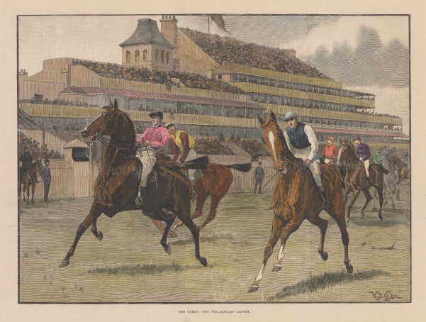 The Preliminary Canter after the military artist William Barnes Wollen.