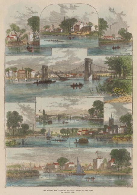8 views of the course on the Thames.