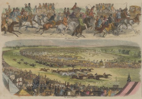 Double Panorama showing the race and road to the Derby.