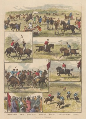 Seven scenes from before, during and after a polo match