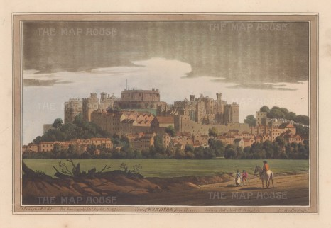 View of the Castle and town from Clever. After Joseph Farington.