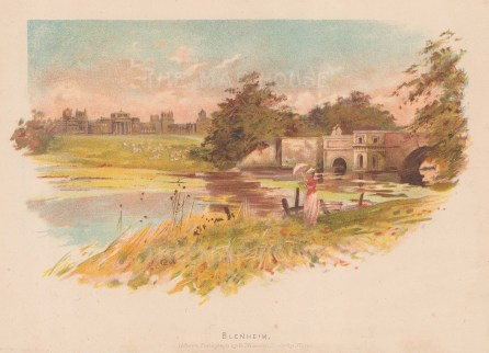 "Wilkinson: Blenheim Palace, Oxfordshire. c1880. An original antique chromolithograph. 8"" x 6"". [ENGp300]"