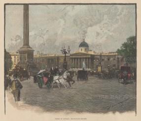 "Illustrated London News: National Gallery, Trafalgar Square. 20"" x 12"". [LDNp10197]"