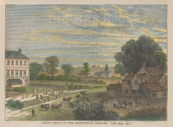 Lisson Green as it was in the 18th century.