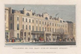 "Shepherd: Regent Street. 1828. A hand coloured original antique steel engraving. 6"" x 4"". [LDNp9627]"
