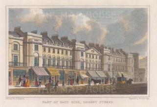 "Shepherd: Regent Street. c1828. A hand coloured original antique steel engraving. 6"" x 4"". [LDNp9628]"