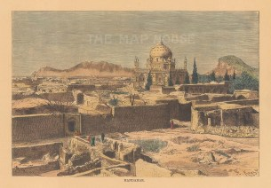 Kandahar: View of the Mausoleum of Ahmad Shah Durra.