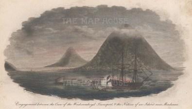 Mindanao Islands. Balut Island (Malulong). Engagement between crew of the Waaksamheyal transport and men of the Raja.