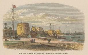 "Collins: Zanzibar. c1870. A hand coloured original antique wood engraving. 4"" x 3"". [AFRp1440]"