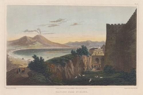 Mount Vesuvius: Panorama from St Elmo towards Naples