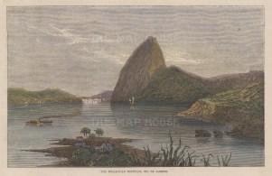 Rio de Janeiro: View of Sugarloaf Mountain from Botafogo Bay.