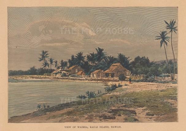 Kauai Island: View along the coast of Waimea.