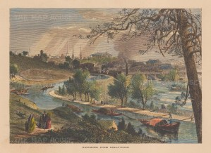 Richmond: View over the James River from Hollywood.