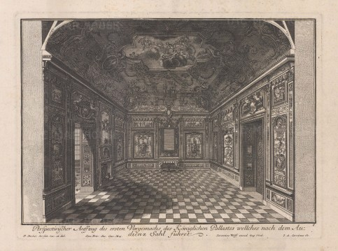 Baroque Wall Design: An antechamber to an audience room.