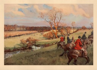 Fox Hunting. The Atherstone. Holloa'd away from Marriot's Osier Beds.