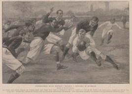 England v Scotland: Rugby Union match at Richmond.