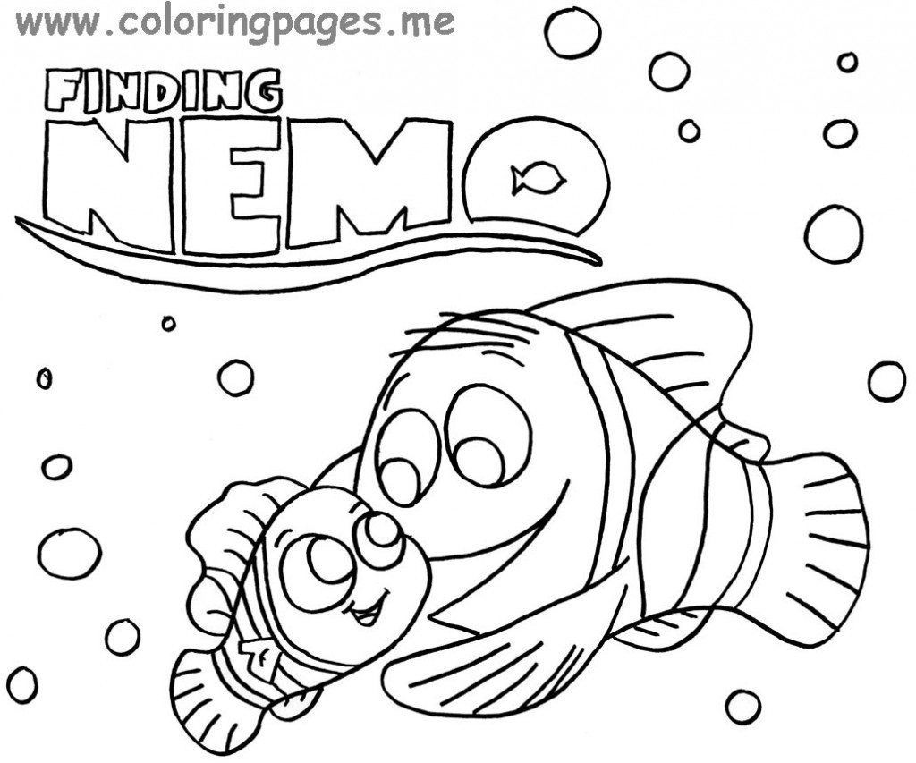 Finding Nemo Coloring Sheets Free Printables