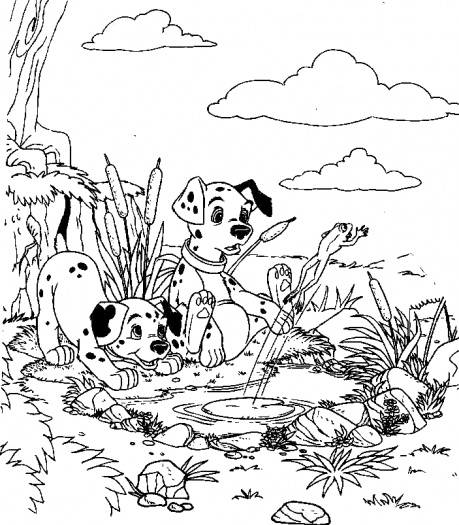 Outstanding journey of Puppies 17 101 Dalmatians coloring