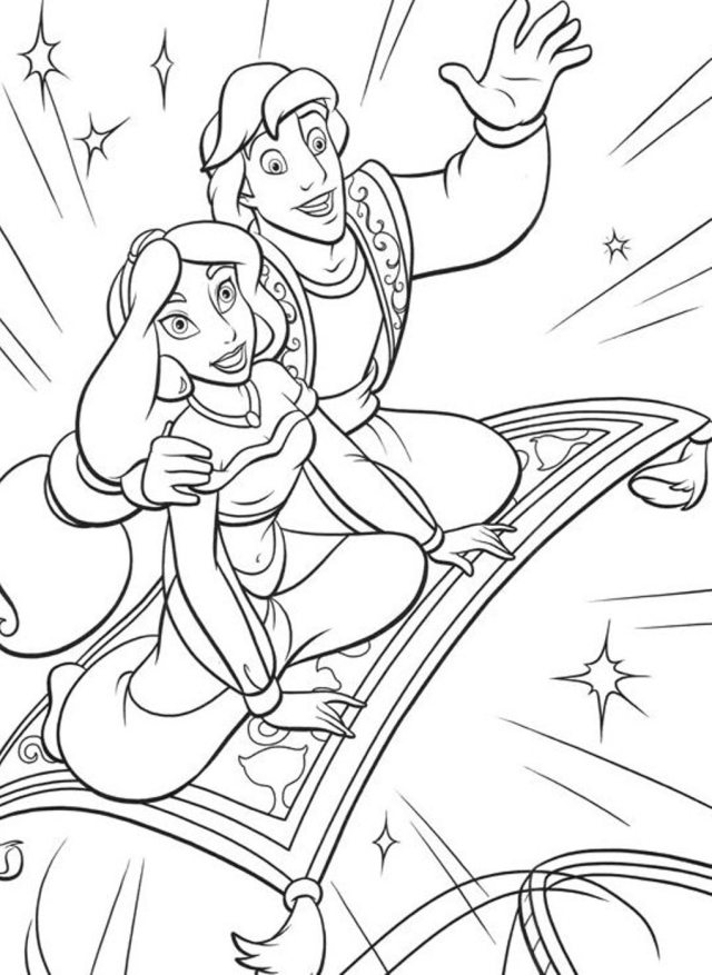 Magical world of Arabian Aladdin 27 Aladdin coloring pages  Free
