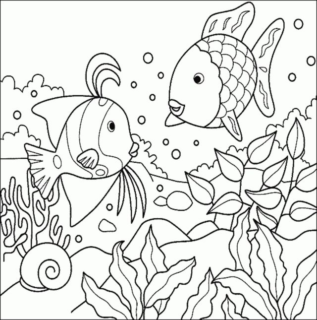 Fish coloring pages 30 – Free Printables