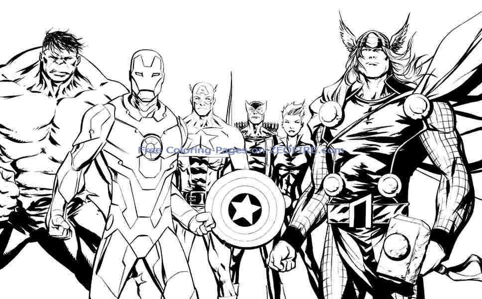 avengers coloring sheets