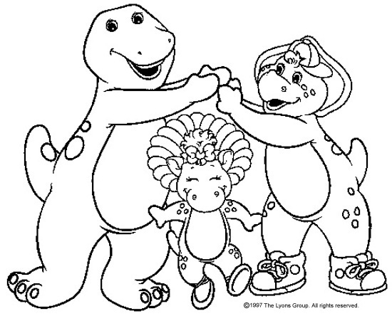 Story of a friendly dinosaur Barney 20 Barney coloring