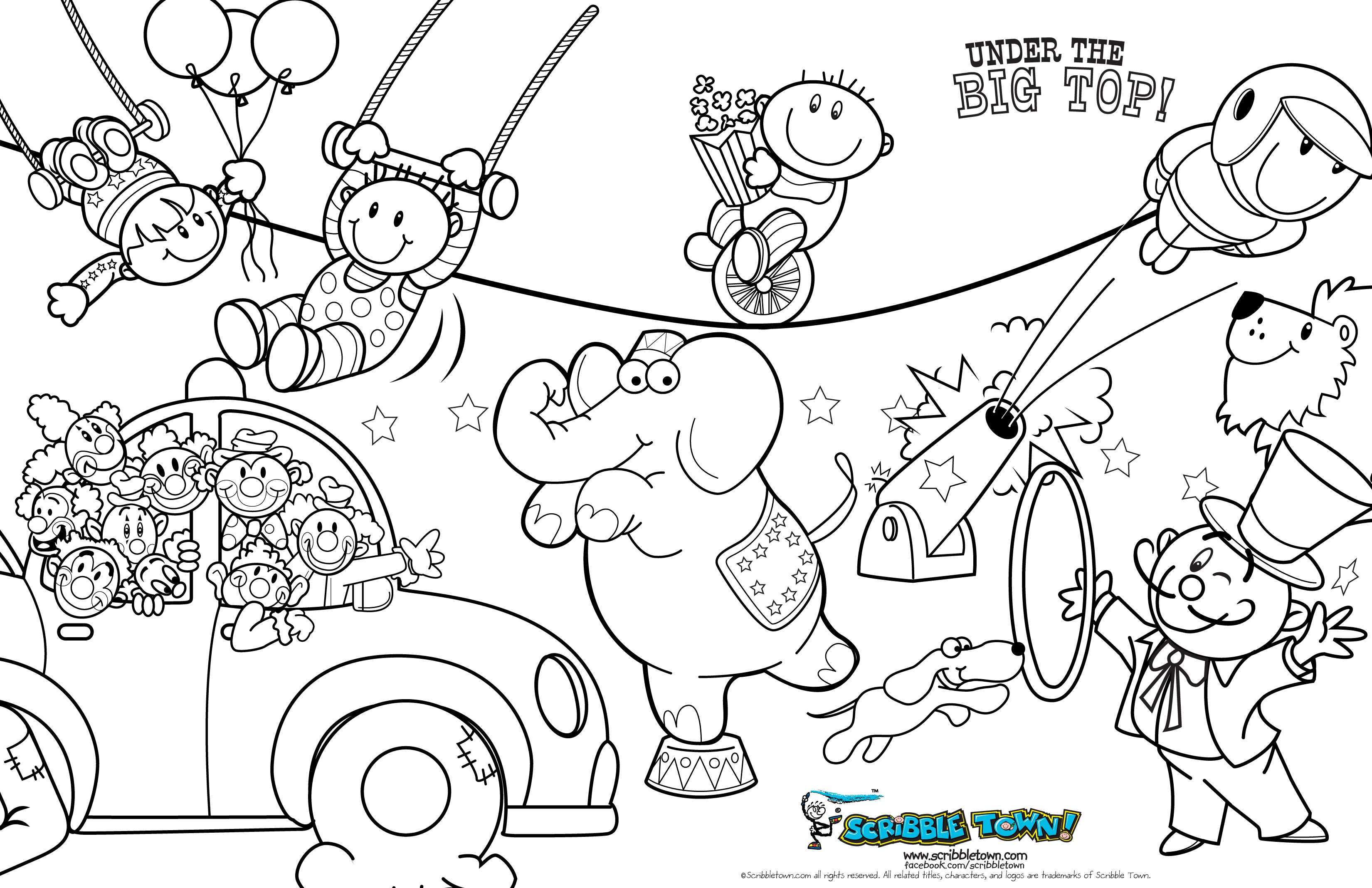 Best Entertaining Program For Children Circus 20 Circus Coloring Pages