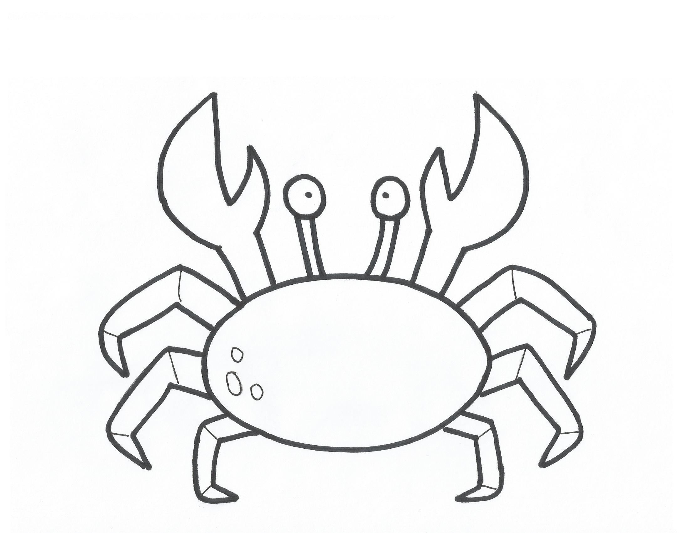 Delicious crustacean creature Crab 18 Crab coloring pages
