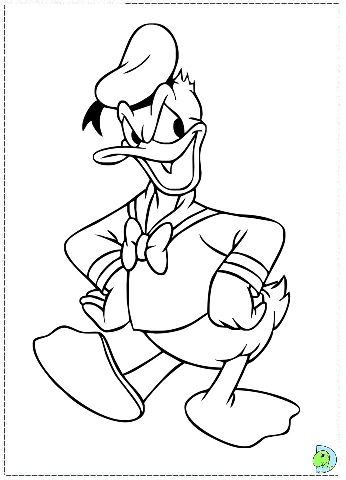 Hilarious activities of funny duck 20 Donald Duck coloring