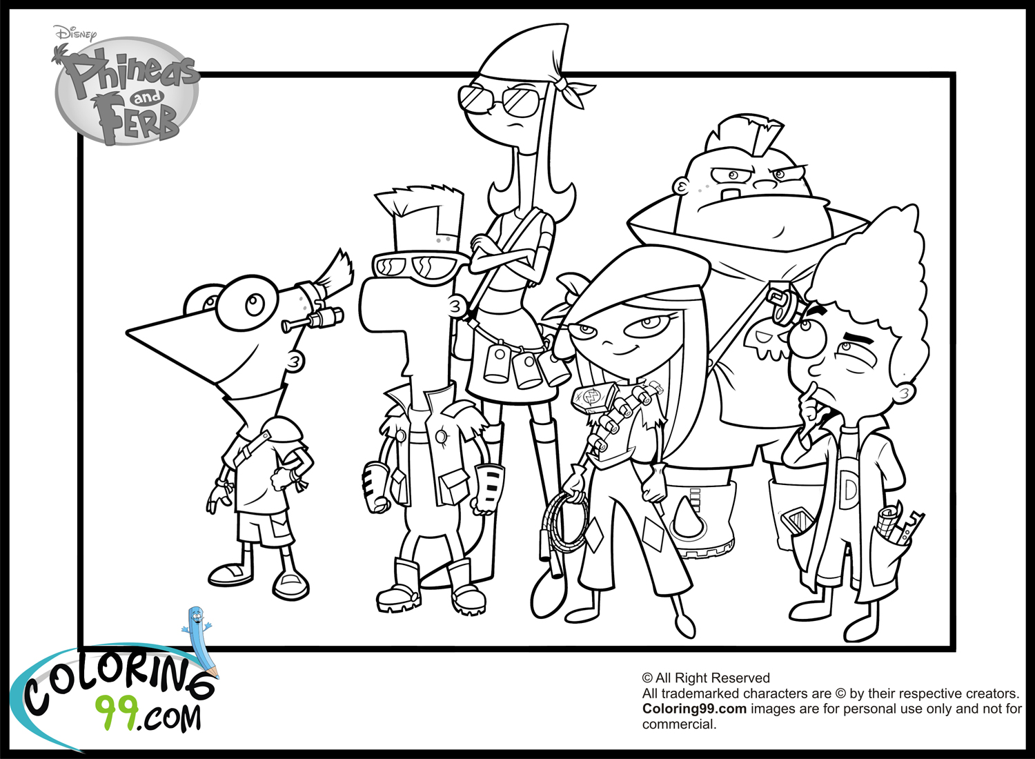 Coloring Pages Of Phineas Amp Ferb By Madison Free Printables