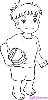 Coloring Pages Ponyo Ponyo Coloring Pages