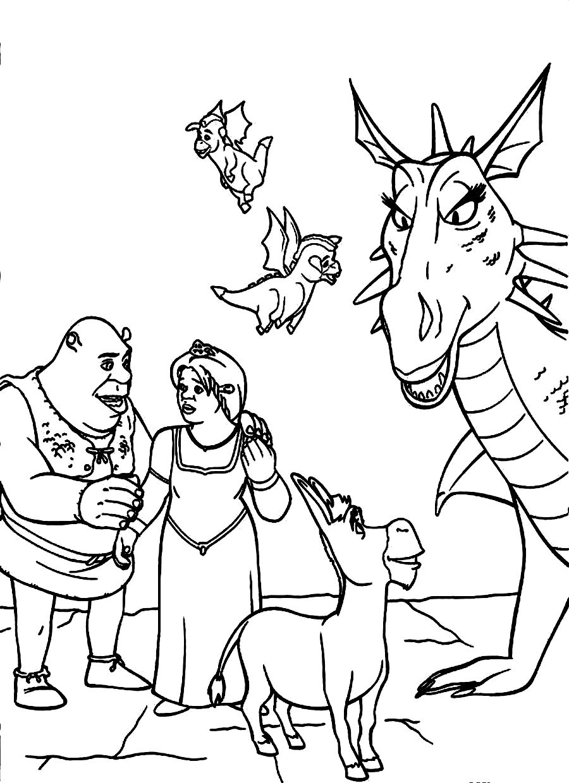 Unusual love story of an ogre Shrek 20 Shrek coloring
