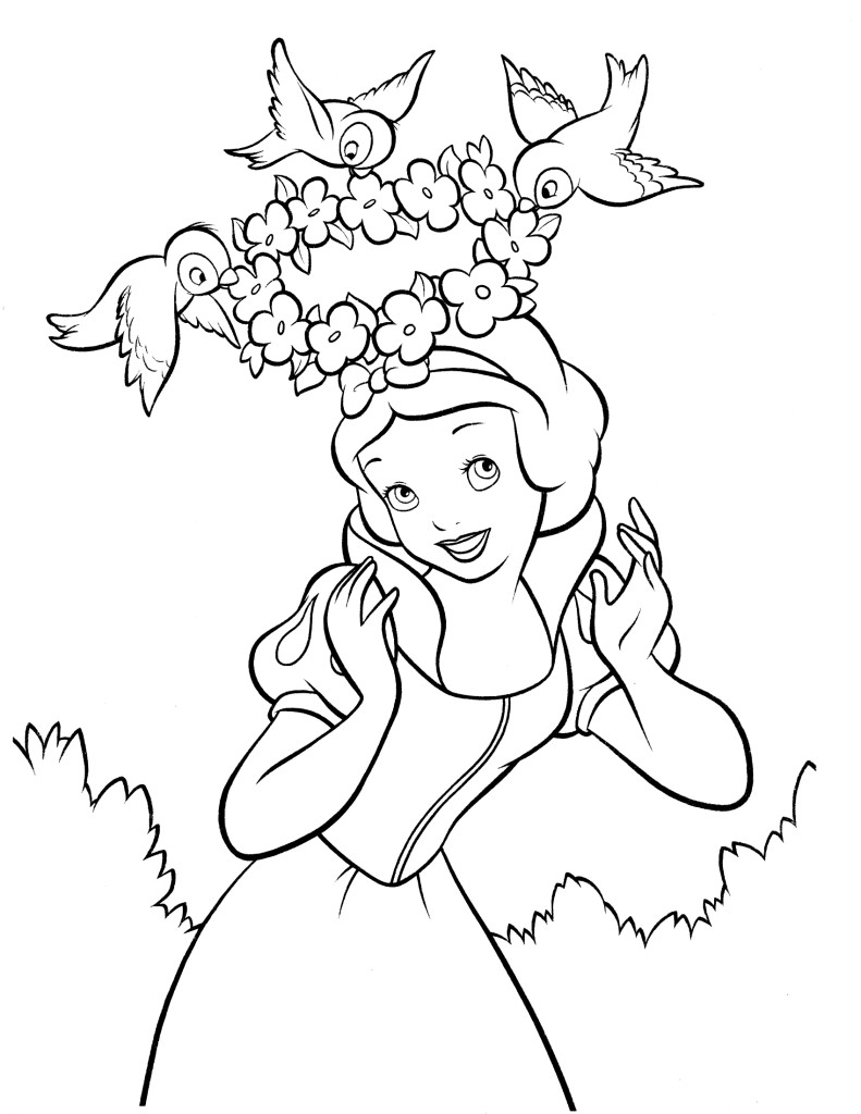 snow-white pictures coloring