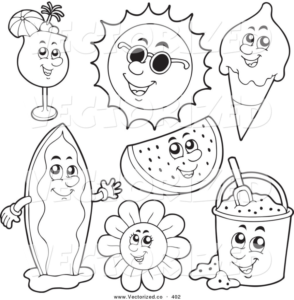 coloring pages of summer-season