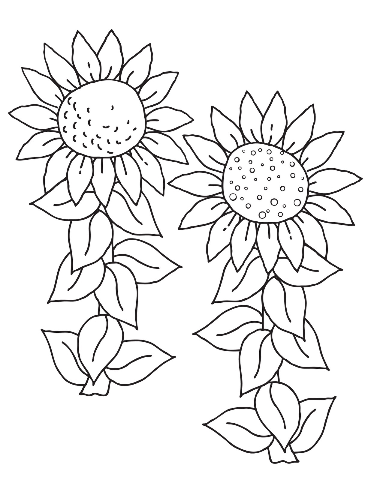 Beautiful Blossom Sunflower 17 Sunflower Coloring Pages ...