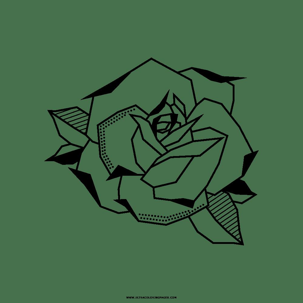 Desenho De Rosa Para Colorir Colorircom Sketch Coloring Page
