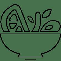 Dibujo De Ensalada De Verduras Para Colorear Dibujo