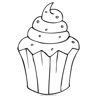 Muffin Coloring Page   Ultra Coloring Pages