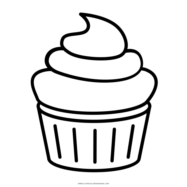 Cupcake Coloring Page - Ultra Coloring Pages