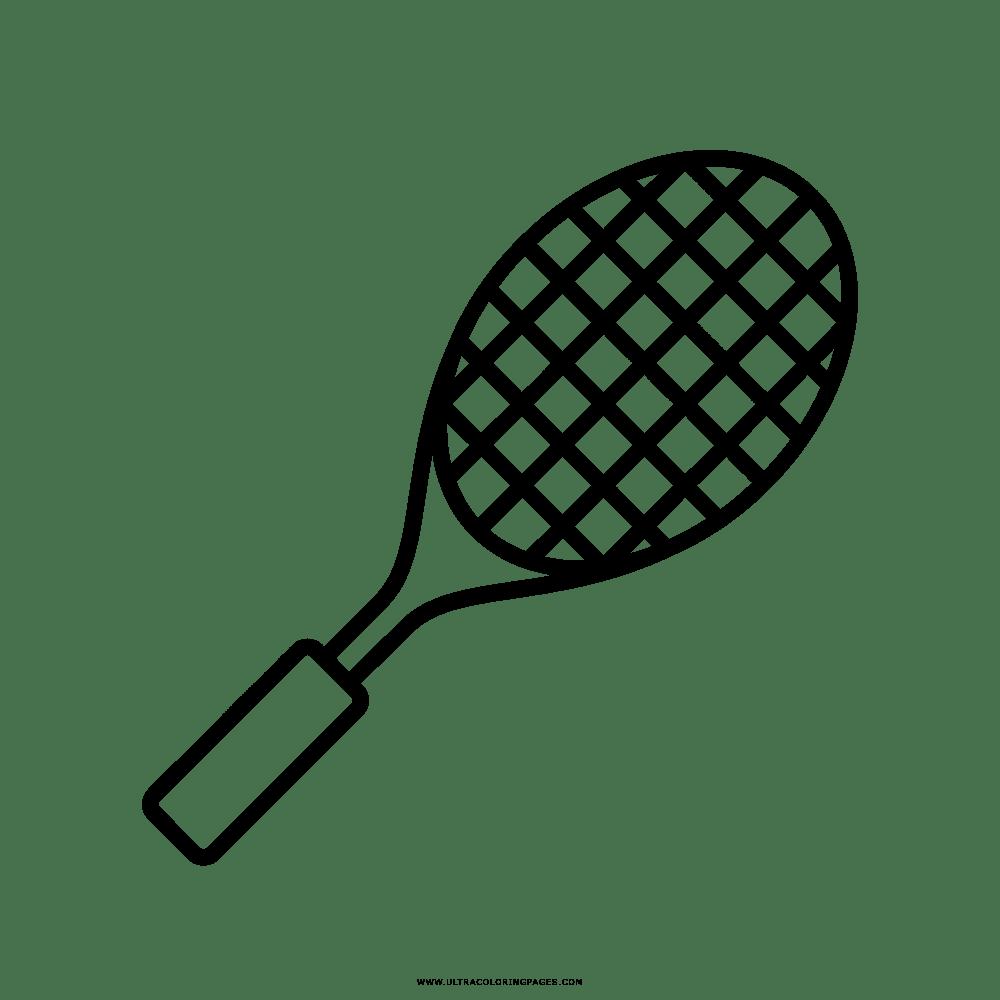 Racchetta Da Tennis Disegni Da Colorare
