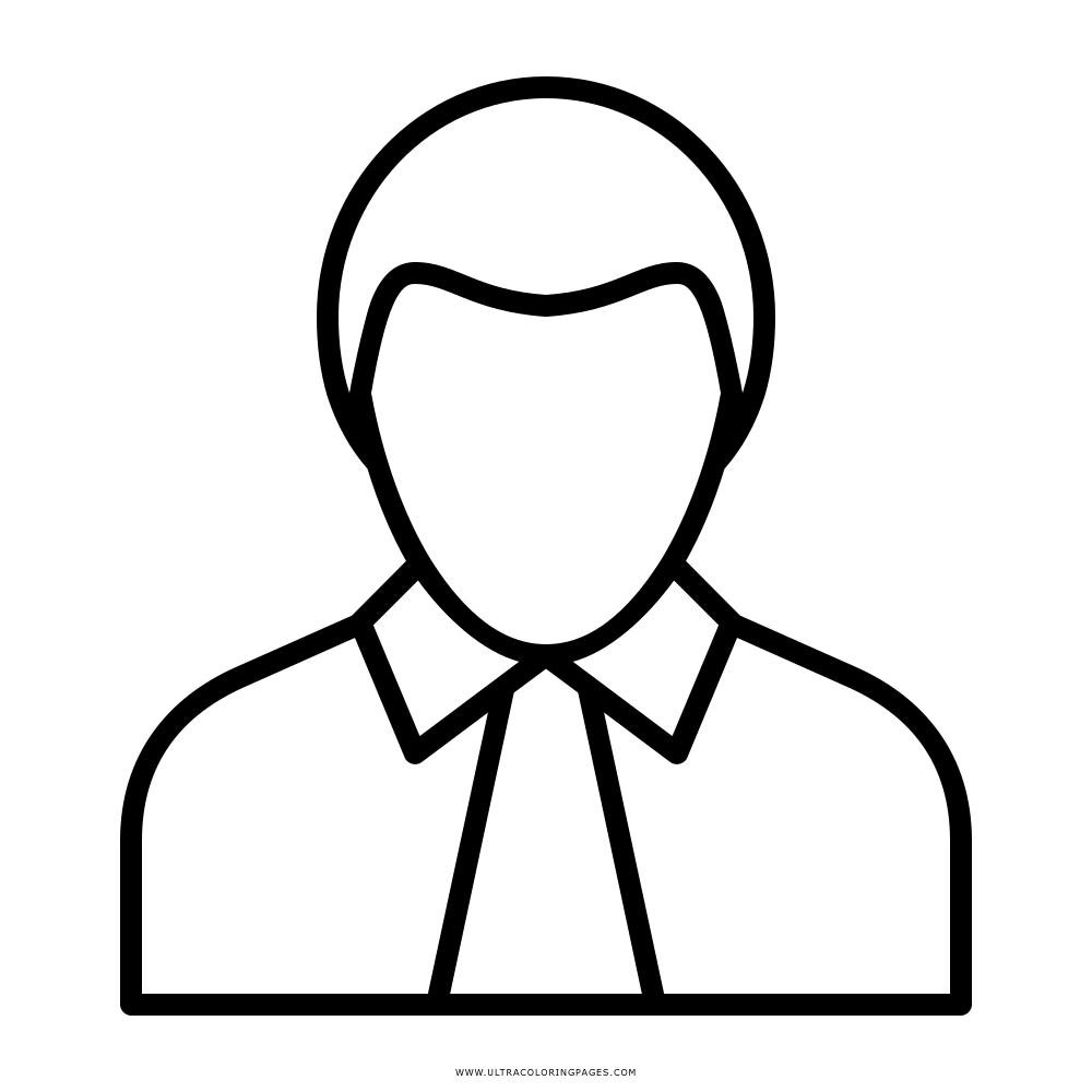 Business Person Coloring Page Ultra Coloring Pages