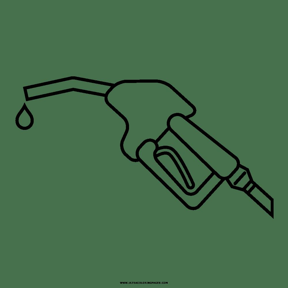 Dibujo De Bomba De Gas Para Colorear