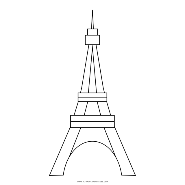 Eiffeltower Coloring Page - Ultra Coloring Pages