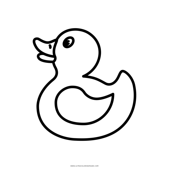 Rubber Duck Coloring Page - Ultra Coloring Pages